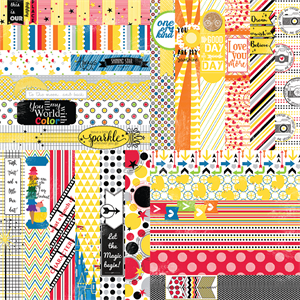 """Picture of It's a Kid's World by Lauren Hinds 2"""" Border Strips - Toddler and Magical Vacation - Set 12"""